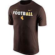 Nike Men's Wyoming Cowboys Brown FootbALL Sideline Legend T-Shirt