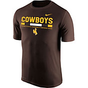 Nike Men's Wyoming Cowboys Brown Football Staff Legend T-Shirt