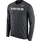Nike Men's Xavier Musketeers Grey Legend Long Sleeve Shirt