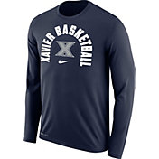 Nike Men's Xavier Musketeers Blue Legend Long Sleeve Basketball Shirt