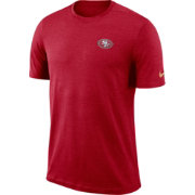 Nike Men's San Francisco 49ers Sideline Coaches Performance Red T-Shirt