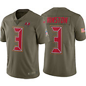 Nike Men's Home Limited Salute to Service 2017 Tampa Bay Buccaneers Jameis Winston #3 Jersey