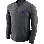 Nike Men's Buffalo Bills Henley Charcoal Long Sleeve Shirt