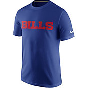 Nike Men's Buffalo Bills Essential Wordmark Blue T-Shirt