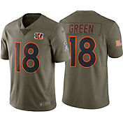 Nike Men's Home Limited Salute to Service 2017 Cincinnati Bengals A.J. Green #18 Jersey