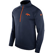 Nike Men's Denver Broncos Therma-FIT Navy Half-Zip Pullover