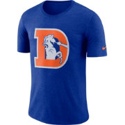 Nike Men's Denver Broncos Historic Crackle Tri-Blend Royal T-Shirt