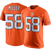 Nike Men's Denver Broncos Von Miller #58 Color Rush Orange T-Shirt