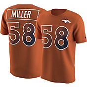 Nike Men's Denver Broncos Von Miller #58 Prism Player Orange T-Shirt