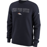 Nike Men's Denver Broncos 'Who You With' Navy Long Sleeve Shirt