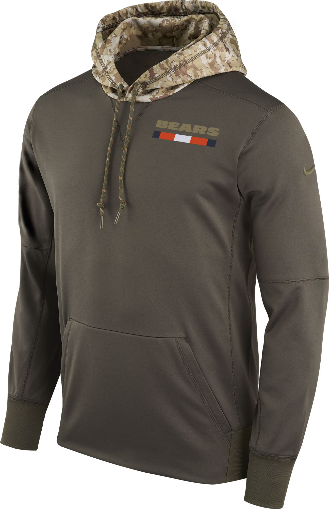 Nike Men's Chicago Bears Salute to Service 2017 Therma-FIT Performance  Hoodie. 0:00. 0:00 / 0:00. noImageFound ???