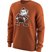Nike Men's Cleveland Browns Alt Logo Orange Long Sleeve Shirt
