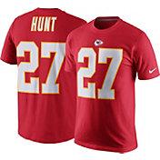 Nike Men's Kansas City Chiefs Kareem Hunt #27 Pride Red T-Shirt