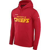 Nike Men's Kansas City Chiefs Sideline 'Property Of' Therma-FIT Red Logo Hoodie