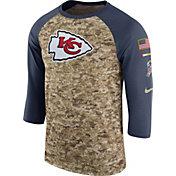 Nike Men's Kansas City Chiefs Salute to Service 2017 Camouflage Raglan