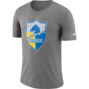 Nike Men's Los Angeles Chargers Historic Crackle Tri-Blend Grey T-Shirt