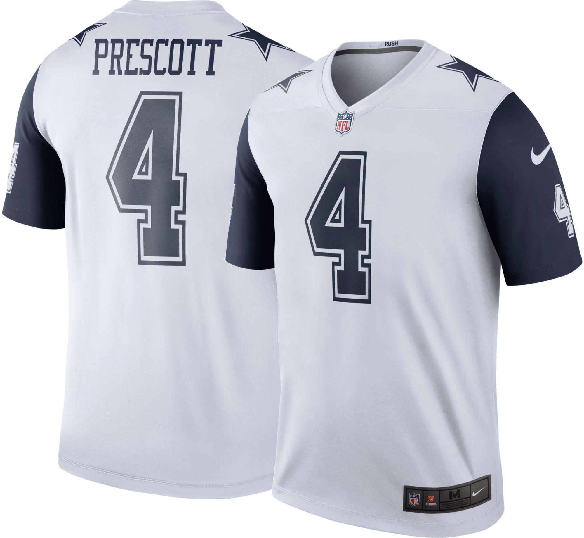 Nike Men's Color Rush Legend Jersey Dallas Cowboys Dak Prescott #4 | DICK'S  Sporting Goods