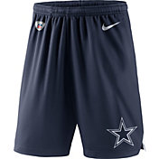 Nike Men's Dallas Cowboys Dry Knit Navy Performance Shorts