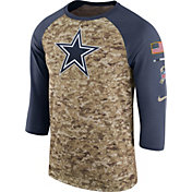 Nike Men's Dallas Cowboys Salute to Service 2017 Camouflage Raglan