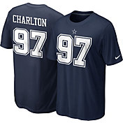 Nike Men's Dallas Cowboys Taco Charlton #97 Pride Navy T-Shirt