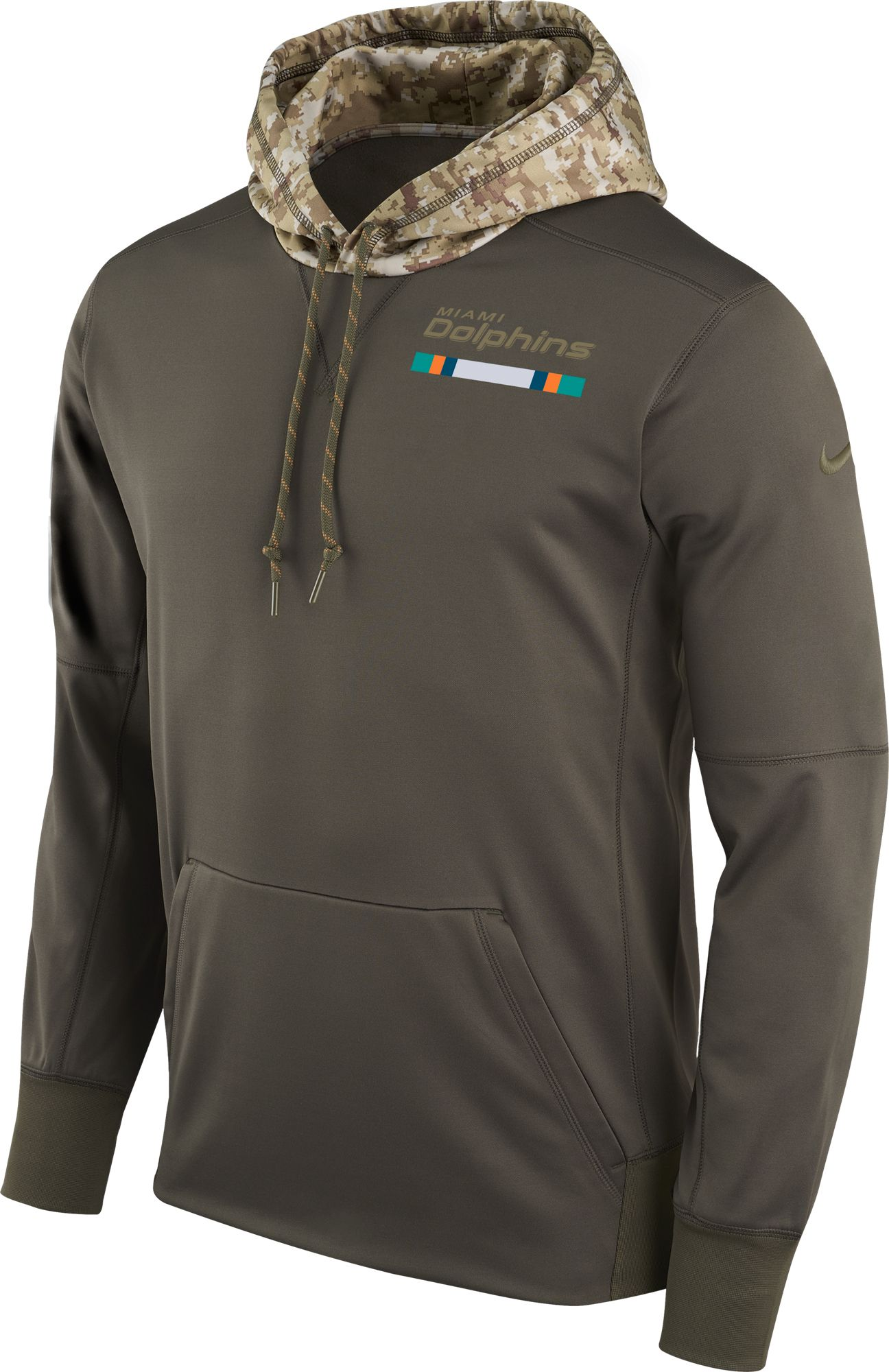 Nike Men's Miami Dolphins Salute to Service 2017 Therma-FIT Performance  Hoodie. 0:00. 0:00 / 0:00. noImageFound ???