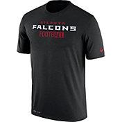 Nike Men's Atlanta Falcons Sideline All-Time Legend Performance Black T-Shirt