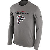 Nike Men's Atlanta Falcons Essential Lockup Grey Long Sleeve Shirt