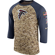Nike Men's Atlanta Falcons Salute to Service 2017 Camouflage Raglan