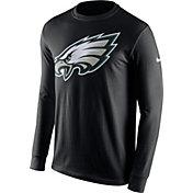 Nike Men's Philadelphia Eagles Logo Black Long Sleeve Shirt