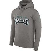 Nike Men's Philadelphia Eagles Sideline 'Property Of' Therma-FIT Grey Logo Hoodie