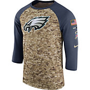 Nike Men's Philadelphia Eagles Salute to Service 2017 Camouflage Raglan