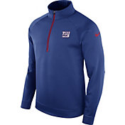 Nike Men's New York Giants Therma-FIT Blue Half-Zip Pullover