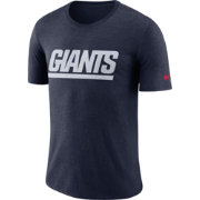 Nike Men's New York Giants Historic Crackle Tri-Blend Navy T-Shirt