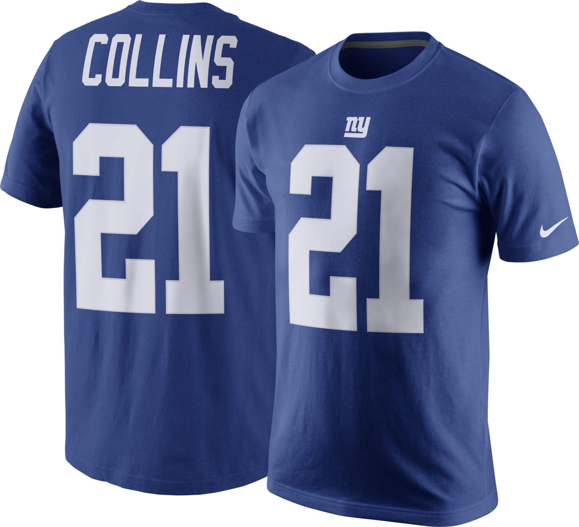 Nike Men s New York Giants Landon Collins 21 Pride Blue T Shirt