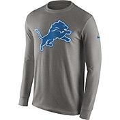 Nike Men's Detroit Lions Logo Grey Long Sleeve Shirt