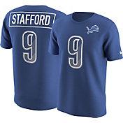 Nike Men's Detroit Lions Matthew Stafford #9 Prism Player Blue T-Shirt