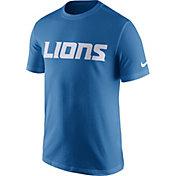 Nike Men's Detroit Lions Essential Wordmark Blue T-Shirt