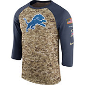 Nike Men's Detroit Lions Salute to Service 2017 Camouflage Raglan