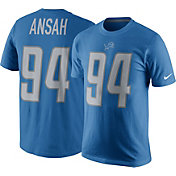 Nike Men's Detroit Lions Ziggy Ansah #94 Pride Royal T-Shirt