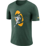 Nike Men's Green Bay Packers Historic Crackle Tri-Blend Green T-Shirt