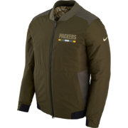 Nike Men's Green Bay Packers Salute to Service 2017 Reversible Bomber Jacket