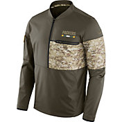 Nike Men's Green Bay Packers Salute to Service 2017 Shield Hybrid Jacket