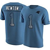 Nike Men's Carolina Panthers Cam Newton #1 Prism Player Blue T-Shirt