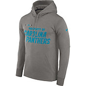 Nike Men's Carolina Panthers Sideline 'Property Of' Therma-FIT Grey Logo Hoodie