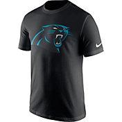 Nike Men's Carolina Panthers Essential Logo Black T-Shirt