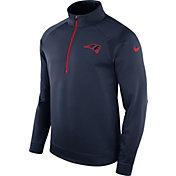 Nike Men's New England Patriots Therma-FIT Navy Half-Zip Pullover