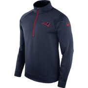 Nike Men's New England Patriots Therma-FIT Navy Half-Zip Pullover