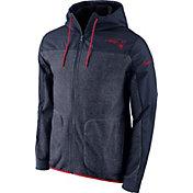 Nike Men's New England Patriots AV15 Navy Full-Zip Jacket