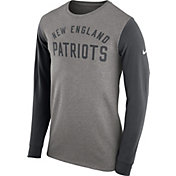 Nike Men's New England Patriots Heavyweight Charcoal Long Sleeve Shirt