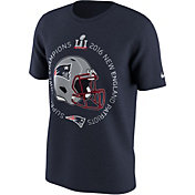 Nike Men's Super Bowl LI Champions New England Patriots Helmet Navy T-Shirt